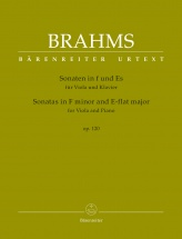 Brahms J. - Sonatas In F Minor & E-flat Major Op.120 - Alto & Piano