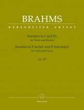 Brahms J. - Sonatas In F Minor & E-flat Major Op.120 - Alto & Piano