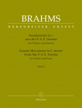 Brahms J. - Sonata Movement In C Minor From The F.a.e. Sonata - Woo 2 - Violon & Piano