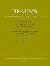 Brahms J. - Sonata Movement In C Minor From The F.a.e. Sonata - Woo 2 - Violon & Piano