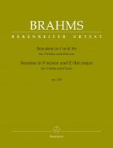 Brahms J. - Sonatas In F Minor & E-flat Major Op.120 - Violon & Piano