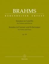 Brahms J. - Sonatas In F Minor & E-flat Major Op.120 - Violon & Piano