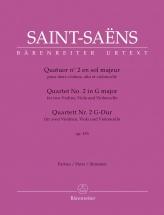 Saint-saens Camille - Quatuor N°2 En Sol Majeur Op.153 - Parties