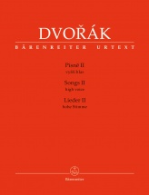 Dvorak A. - Songs Ii - High Voice and Piano