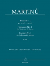 Martinu B. - Concerto N°1 H226 For Violin and Orchestra - Piano Reduction