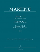 Martinu B. - Concerto N°2 H293 For Violin and Orchestra - Piano Reduction