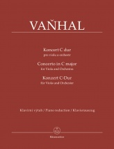 Vanhal Jan Kritel - Concerto In C Major For Viola And Orchestra - Piano Reduction