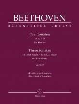 Beethoven L.v. - Three Sonatas In E-flat Major, F Minor, D Major Woo 47 Kurfursten Sonatas - Piano