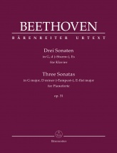 Beethoven L.v. - Three Sonatas Op.31 - Piano