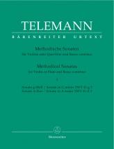 Telemann G.p. - 12 Methodische Sonaten Vol.1 - Flute Ou Violon, Basse Continue