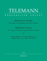 Telemann G.p. - 12 Methodische Sonaten Vol.3 - Flute Ou Violon, Basse Continue