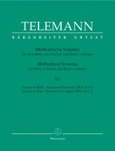 Telemann G.p. - 12 Methodische Sonaten Vol.6 - Flute Ou Violon, Basse Continue