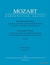 Handel G.f. / Mozart W.a. - Das Alexander Fest K.591 - Vocal Score