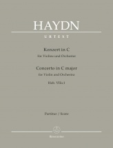 Haydn J. - Concerto In C Major Hob. Viia:1 For Violin & Orchestra - Score