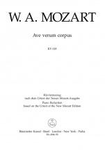 Mozart W.a. - Ave Verum Corpus Kv 618 - Vocal Score