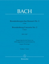 Bach J.s. - Brandenburgisches Konzert Nr. 2 - Score