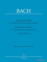 Bach J.s. - Concerto In A-moll For Violoncello, Strings And Basso Continuo Bwv 593 - Piano Reduction