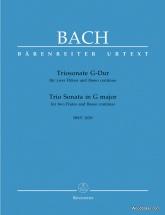 Bach J.s. - Triosonate G-dur Bwv 1039 - 2 Flutes Et Bc