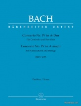 Bach J.s. - Concerto N°4 In A-dur Bwv 1055 - Score
