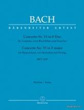Bach J.s. - Concerto N°6 In F-dur Bwv 1057 - Score