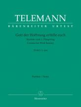 Telemann G.p. - Gott Der Hoffnung Erfulle Euch Tvwv 1:634 - Score