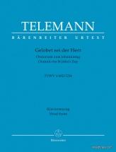 Telemann G.p. - Gelobet Dei Der Herr Tvwv 1:602/1216 - Vocal Score