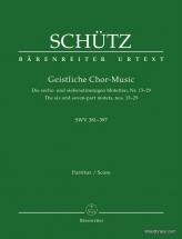 Schütz H. - Geistliche Chor-musik Swv 391-397 - Score