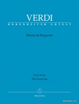 Verdi G. - Messa Da Requiem - Vocal Score