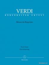 Verdi G. - Messa Da Requiem - Vocal Score