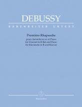 Debussy Claude - Premiere Rhapsodie Pour Orchestre Avec Clarinette Principale En Si - Clarinette and P