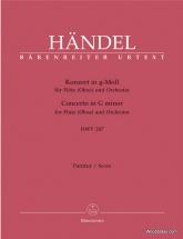 Händel G.f. - Konzert G-moll Hwv 287 - Conducteur