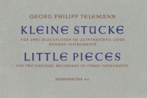 Telemann G.p. - 11 Kleine Stucke - 2 Flutes A Bec