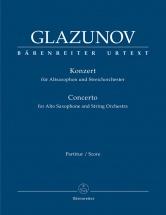 Glazunov A. - Concerto For Alto Saxophone Op.109 - Score