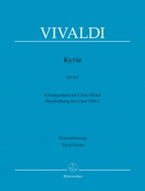 Vivaldi A. - Kyrie Rv 587 - Vocal Score