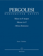 Pergolese G. B. - Mass In F Major Missa Romana - Conducteur