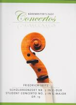 Seitz Friedrich - Schülerkonzert N°2 In G-dur Op.13