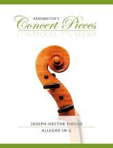 Fiocco J.h - Allegro In G - Violon & Piano