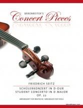 Seitz F. Concerto In D Minor Op.22 - Alto & Piano