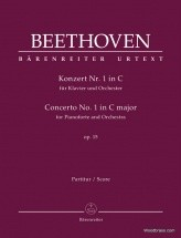 Beethoven L.v. - Klavierkonzert N°1 In C Op.15 - Score