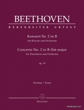 Beethoven L.v. - Konzert Nr.2 In B Op.19 - Score