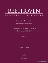 Beethoven L.v. - Klavierkonzert Nr. 3 In C Op.37 - Score