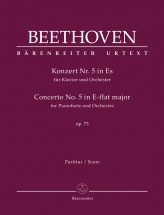 Beethoven L.v. - Concerto For Pianoforte And Orchester N°5 Op.73 - Score