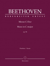 Beethoven L.v. - Mass C Major Op.86 - Score