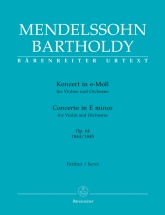 Mendelssohn - Concerto For Violin And Orchestra E Minor Op.64 - Score