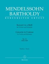 Mendelssohn - Concerto For Violin And Orchestra E Minor Op.64 - Score