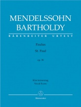 Mendelssohn F. - St Paul Op.36 - Vocal Score