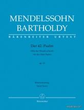 Mendelssohn F. - Der 42. Psalm Wie Der Hirsch Schreit Op.42 - Vocal Score