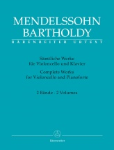 Mendelssohn Felix - Complete Works For Violoncelle And Pianoforte Vol.1 and 2