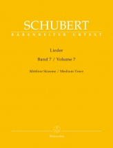 Schubert F. - Lieder Vol. 7 - Medium Voice