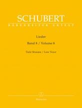 Schubert Franz - Lieder Vol.8 - Voix Basse and Piano